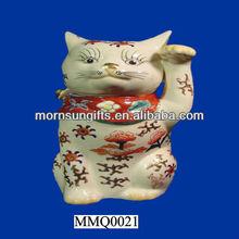 Pretty good porcelain Maneki Neko Fortune Cat