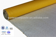 40oz 1.2mm yellow silicon rubber coated fiberglass fireproof heat shield curtains