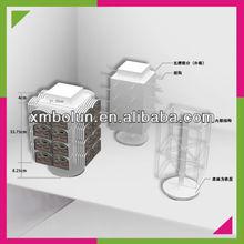 countertop false eyelashes hanging rotating display cases