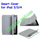 Ultrathin 4 Folio Style Leather Smart Cover Case for iPad 2 (for iPad 2/3/4)