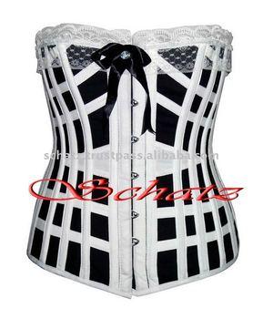 - Women_Black_White_Halfbust_Vintage_Corset.jpg_350x350