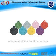 Various design aluminum paw pet id tag engraved tag