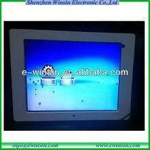12 inch digital photoframe,800x600 digital photo frame wall clock support music,video autoplay