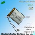 Direct preço recarregável li-ion 3.7v 1000 305565 mah li-ion para gps
