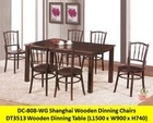 Wooden dinning set