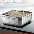 Deluxe aço inoxidável braseiro com o alimento da porcelana panela/cozinha equipamentos food aquecedores