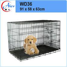 folding dog crate large portable dog kennel