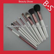 Good quality 9pcs animal hair makeup brush set,animal hair makeup/cosmetic brush set