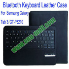 High Quality Bluetooth Keyboard for Samsung Galaxy P5210/Tab 3 With 450mAh Mobile Power and PU Leather Case