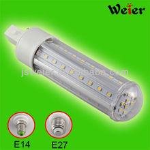 2013 new product PL G24/E27/E14/B22 socket 360 beam degree led downlight