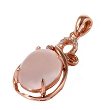 customized rose gold plate bulk rhinestone pendant