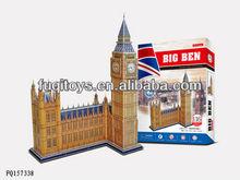 3d puzzle brinquedo famoso edifício educação para as crianças