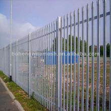PVC/galvanized palisade steel fence(FACTRORY)