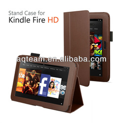 Classic High quality pu leather folio stand case for Kindle Fire HD 7 inch