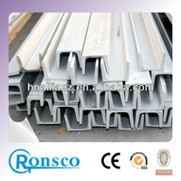 large storage of ASTM 317 stainless steel u-channel sizes