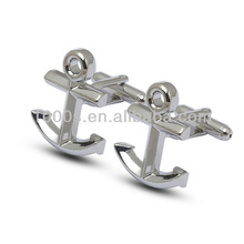 Novelty cufflinks brass anchor sleeve button