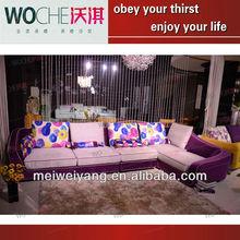 living room furniture modern sofa , fabric sofas headrest Q8820