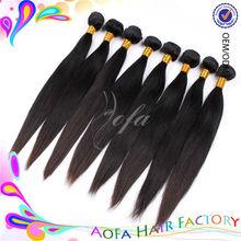 12''-36'' natural black color 5a virgin human hair ponytail