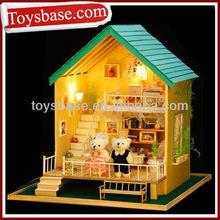 Assembled DIY romantic dolls houses wooden