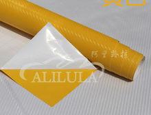 special design 1.52*30M vinyl sticker car wrapping car wrap 3d carbon fiber bright yellow