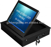 Conference room using audio visual lcd motorized flip up device