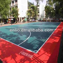 PP Interlocking Floor For Outdoor Basketball/Badminton/Volleyball Court