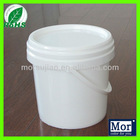 Virgin PP plastic bucket/plastic pail white round with handle and lid