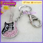 Music Rhinestone Custom Guitar Keychain Vners Brand #16011