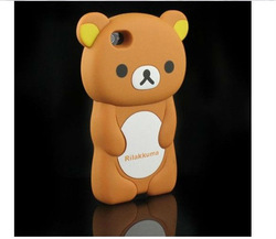 3D Brown Rilakkuma Bear Case Cover for iPhone 4 4S