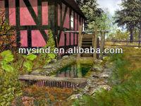 modern natural scenery wall art paintings