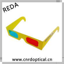 Paper frame video 3D red/blue lens glasses