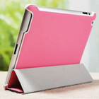 2013 Hot selling fashion cute high quality stand smooth leather tablet case for ipad3