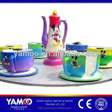 Vintage A Fun Amusement Park Tea Cup Rides Romantic Activity for Sale