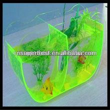 Green acrylic aquarium ornamental fish tank