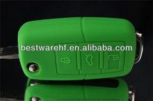 Cute high quality VW golf remote key cover,smart car key silicone cover
