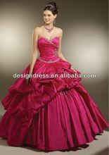 2013 New Style Strapless Sweetheart Neckline Silky Taffeta with Beading Prom Dress