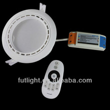 Home downlight,hospital downlight,project downlight,double color from warm white to cool white,12w