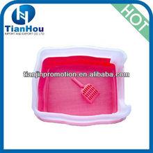 2013 New plastic square cat litter box