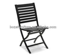 Garden folding plastic wood side chair