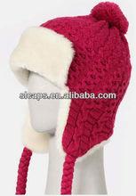 ear flap knit hat