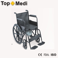 Manual commode wheelchair with toilet wheelchair with toilet