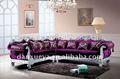 Veludo clássico sofá de canto vermelho design ( DXY3104 )