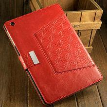 hot selling stand pu leather rotative case for ipad mini