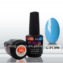 hot sale soak off G-PC090 sky blue color gel polish pure color uv gel azure celeste gel for nail art nail painting nail supplier