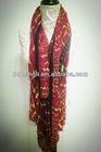 Twill silk scarf