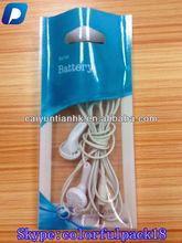 Snoy Ericsson accessories plastic bag wholesale/plastic mobile phone accessories bag with ziplock and window