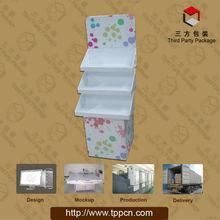 Pop up cardboard cosmetics display stand