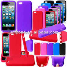 silicone soft skin back cover case For apple iphone mini