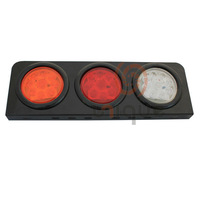 "universal waterproof 4"" Round Red LED Flush Mount Stop Turn Tail Light"