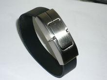cheapest promotion gift usb bracelet leather,leather bracelet usb flash drive